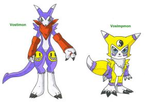 Vostimon and VosImpmon by Impmon-Fans-United