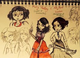 Mary Shelley and Ada Lovelace by ravenviolet777