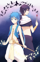 Magi - Aladdin and Judal by deliciosaBerry