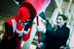 The Joker and Harley Quinn by FallingFeathers