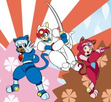 Samurai Pizza Cats by Digital-Banshee