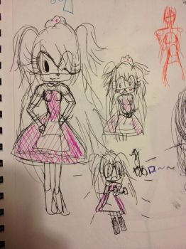 SKETCHDUMP-Choxie the Black Alice in Sonic xD by choxie-chan