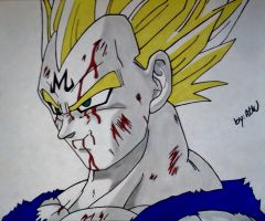 Vegeta's Final Atonement by WatersDBZArt