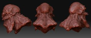Ogre Zbrush Model back views by Danwhitedesigns