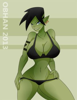 Orc Pinup by Obhan