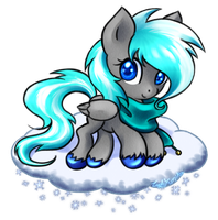 Free Request 1: Snow Paper Pony by LadyYumiko