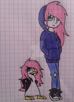 Miwa Penguin and Human :3 by Midnight20013