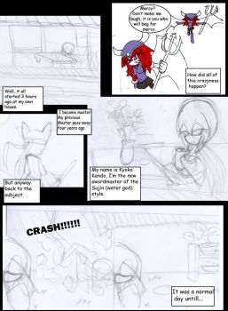 devilkins comic page1 preview by Mizukiblade