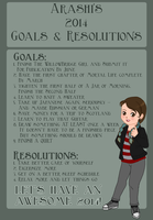 2014 Goals and Resolutions by skelly-jelly
