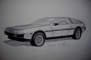 DeLorean Sketch 7 by DeloreanREB
