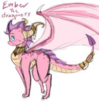 Ember the dragoness by EeveeChild