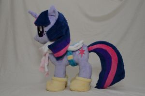 Singing Winter Wrap Up Twilight Sparkle Plush by makeshiftwings30
