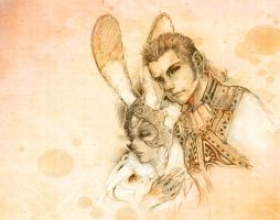 FFXII: Fran and Balthier by Amdhuscias