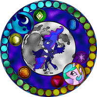 Luna Stained Glass Window by Earthstar01