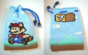 Super mario pouch by prismtwine