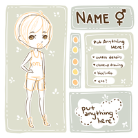[P2U] Character Ref Template + Base by milkcosmos