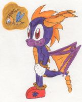 Skylanders Spyro and Sparx Sonic Style by Piplup88908