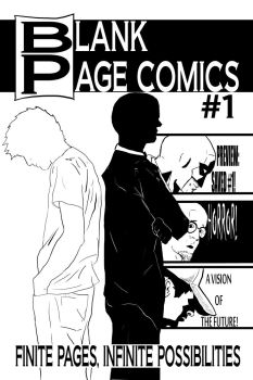 Blank Page Comics Issue 1 Cover by maniacmatt