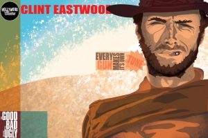 Postal Series - Clint Eastwood by caiobuca