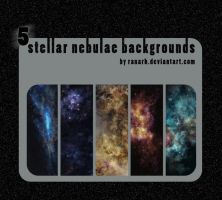 5 Stellar nebulae backgrounds by Ranarh