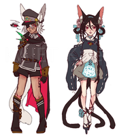 Red eyed Fantasy adopts (CLOSED) by Kaiet