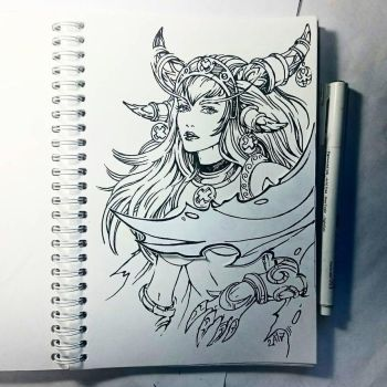 Instaart - Alexstrasza (NSFW optional) by Candra