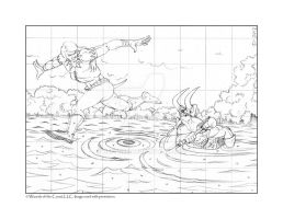 Loki and Thor Preliminary Pencils by JeffDee