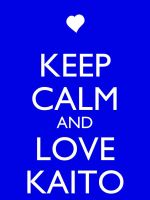 Keep Clam and Love Kaito by Xendrak18