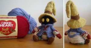 Final Fantasy 9 inspired amigurumi - Vivi by ninjapoupon