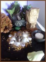 Litha altar 2012 - Ancestors close-up by Marjolijn-Ashara