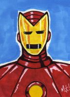 IRON MAN-SKETCHCARD by WM4ART