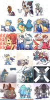 Pokemon and trainers 15 by Novalyfe