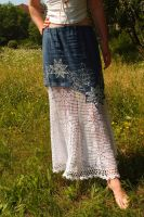 Blue and white skirt by MirachRavaia