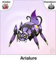 Ariados + Chandelure Fusion by Twime777
