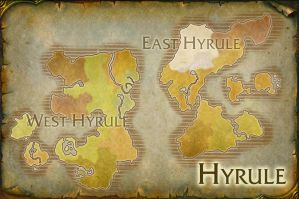 Hyrule World Map V.2 by TheRabidArtist