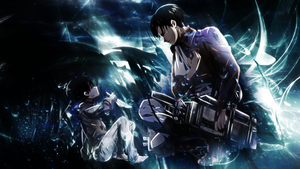 Levi - Attack on Titan - Rainfall Wallpaper by skeptec