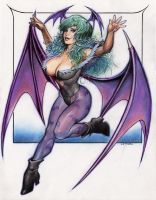 Morrigan from Darkstalkers by Reverie-drawingly