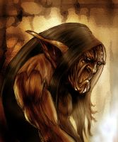 Vargath the old orc by rafsan