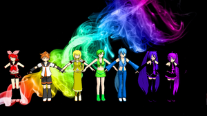 Rainbow Vocaloid by missy28352