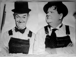 Laurel and Hardy (Stanlio e Ollio)[photo drawings] by DesignerMF