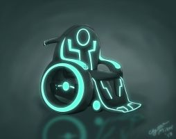 TRON wheelchair by Maiden-Chynna