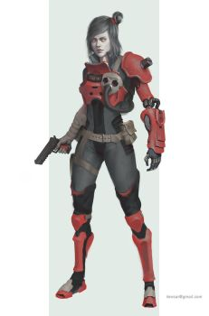 Red Armor by Lensar