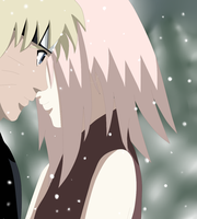 Narusaku: Kiss in the snow by seashellskeeper