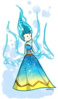 Blue Flame Queen by Vanilla-Fireflies