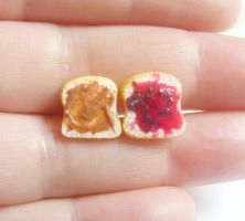 peanut butter and jelly sandwich earrings NeatEats by rhonda4066