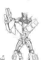 TFP-Optimus lineart by Evaison