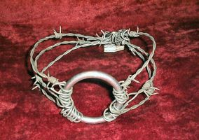 Barbed-wire collar by UrsaNocturnis