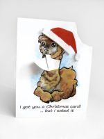Christmas Alpaca Card by sobeyondthis