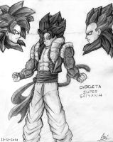 Gogeta Super Saiyan 4 by toonager