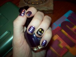 Cheshire Cat Nails by ffishy21